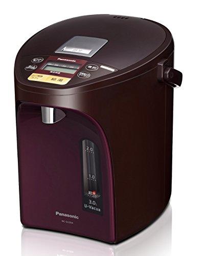 パナソニック 電気ポット 3.0L 真空断熱 省エネ保温 お好み温度調節 給湯量(4段階+コーヒー用) コードレス給湯 ブラウン NC-SU304-T