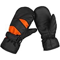 KRATARC Winter Kids Ski Mitten Waterproof Windproof Snow Glove Outdoors Sports Cold Weather Mittens for Boys Girls