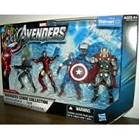 Marvel マーベルAvengers Comic Collection 4 Inch Action Figure 4Pack Captain America, Modern Iron Man, Thor Black Widow キャプテンアメリカ、モダンアイアンマン、ソー、ブラックウィドー【並行輸入品】
