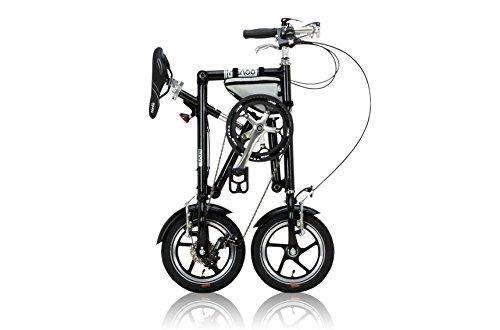 NANOO(ナノー) 折りたたみ自転車 12インチ アルミ製 シマノ7段変速 専用輸行バッグ/トライフレームバッグ付属 ブラック