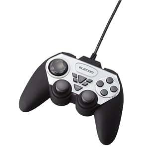 【2006年モデル】ELECOM ゲームパッド USB接続 アナログスティック搭載 振動/連射 12ボタン JC-U2312FSV