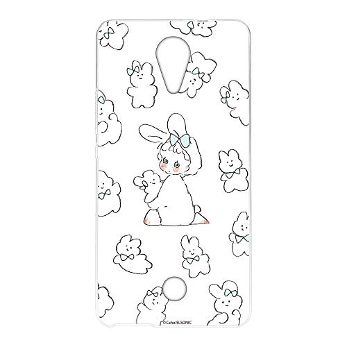Caho Wiko Tommy P4903JP ケース クリア TPU プリント うさぎB (ch-037) スリム 薄型 WN-LC1009925