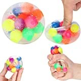 Sanwooden Interesting Toy Stress Relief Ball Anti-Pressure Anxiety Colorful Stress Relief Ball Kids Adult Squeeze Toy Gift Stress Relief Toys