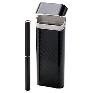 エレコム 電子タバコ Ploom TECH プルームテック スキンシール シール ステッカ- 【曲面までキレイに貼れる】 日本製 カーボン ブラック ET-PTDSCB1BK