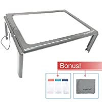 (Come with 3 Bookmark Magnifiers) - Hands-free Full Page Magnifier for Reading with LED Lights - Powerful 3x Magnification - Has Flip Out Legs That Can Stand Over Document - Comes with Neck Cord to Hang It Around Neck and 3 Bookmark or Credit Card Magnifiers of Your Choice (Come with 3 B ..