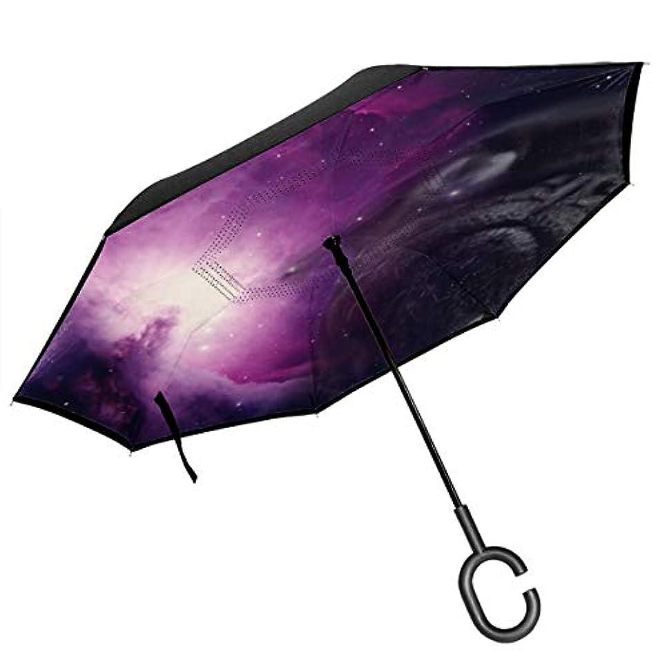 フリンジ教育するヘクタール宇宙のパグ 逆さ傘 逆折り式傘 車用傘 耐風 撥水 遮光遮熱 大きい 手離れC型手元 梅雨 紫外線対策 晴雨兼用 ビジネス用 車用 UVカット