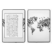 igsticker kindle paperwhite 第4世代 専用スキンシール キンドル ペーパーホワイト タブレット 電子書籍 裏表2枚セット カバー 保護 フィルム ステッカー 016157 地図 世界地図 外国
