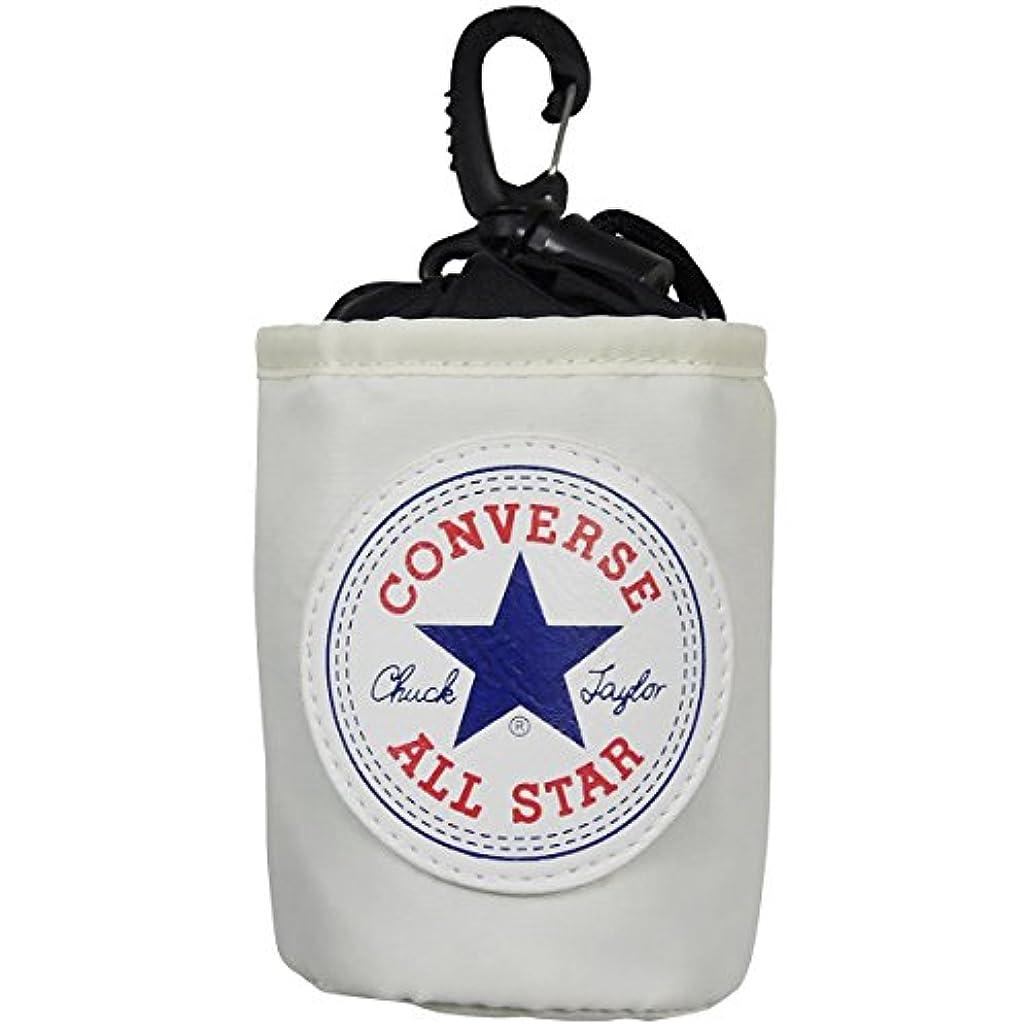 無効食堂配管工TRIAL(トライアル) ボールケース ボールポーチ CONVERSE コンバース ゴルフボールポーチ オフホワイト