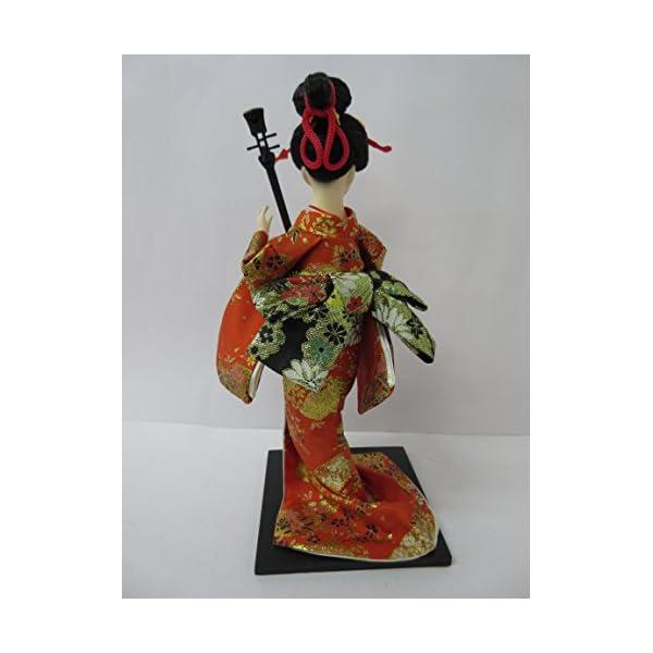 日本人形12インチ 三味線 A 303-061の紹介画像5