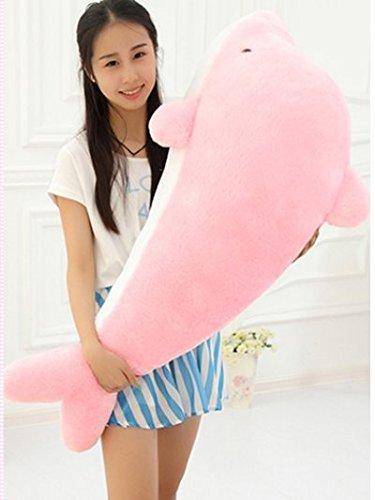 LOVESOUNDぬいぐるみ 特大 海豚/イルカ 大きいいるか 動物 2色 可愛い 海豚ぬいぐるみ/縫い包み/クマ抱き枕/お祝い/ふわふわぬいぐるみ (100cm, ピンク)