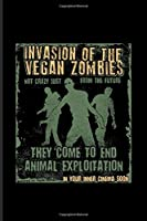 Invasion Of The Vegan Zombies They Come To End Animal Exploitation: Funny Veganism Quote Undated Planner | Weekly & Monthly No Year Pocket Calendar | Medium 6x9 Softcover | For Animal Defense Fans