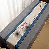 QY テーブルランナー コットンとリネン テーブルフラグ 素朴な 端 レトロ 古い シック 結婚式 デコレーション 屋外の パーティー デコレーション QY テーブルランナー (Color : T5, Size : 40*360CM)