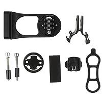 Fenteer 自転車 コンピュータ マウント 延長 GPS ブラケット キット バイク ステム マウント 簡単取り付け 全2色 - ブラック