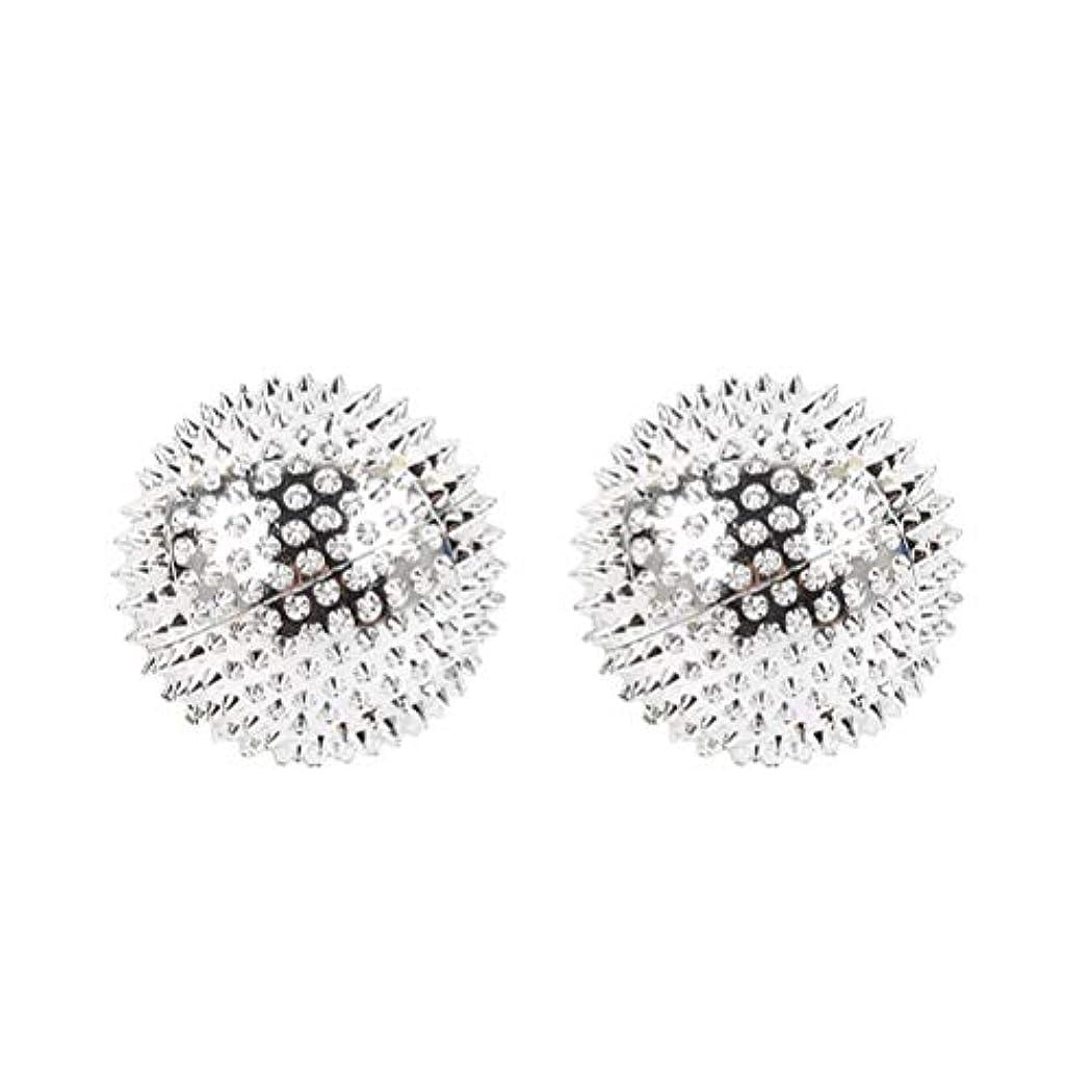 ロッド過敏なトロリーバスHEALIFTY 2本スパイシーマッサージボール磁気感覚ボールAcupointsヨガボールフィットネスボールを攪拌
