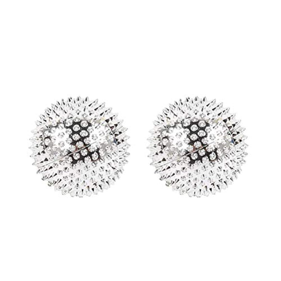 ロイヤリティ改善スイングHEALIFTY 2本スパイシーマッサージボール磁気感覚ボールAcupointsヨガボールフィットネスボールを攪拌