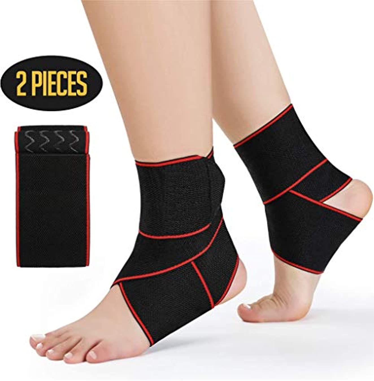 装置所持言う足首サポート調整可能な足首ブレースナイロン弾性素材足首ラップ関節の痛み、捻rain疲労、靭帯損傷、アキレス腱、すべてのスポーツにフィット