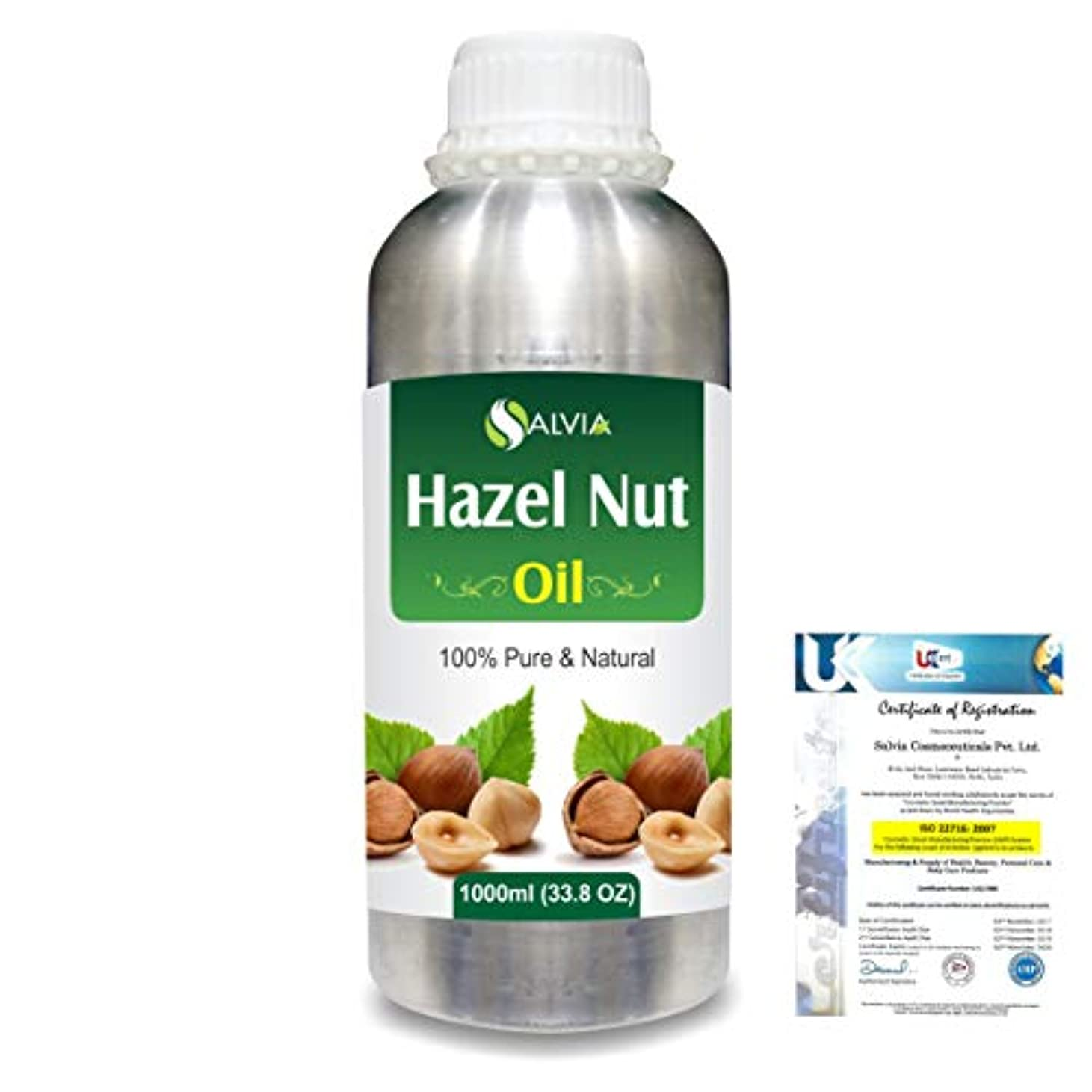 紳士レタッチ止まるHazel Nut (Corylus avellana) 100% Natural Pure Essential Oil 1000ml/33.8fl.oz.