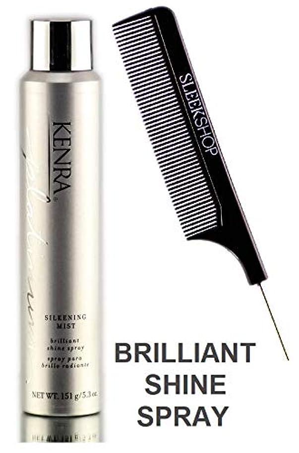 ウィスキー表面市民権Professional LLC Henkel KenraプラチナSILKENING MIST、ブリリアントシャイン即座(STYLISTのKIT)ヘアスプレー 5.3オンス