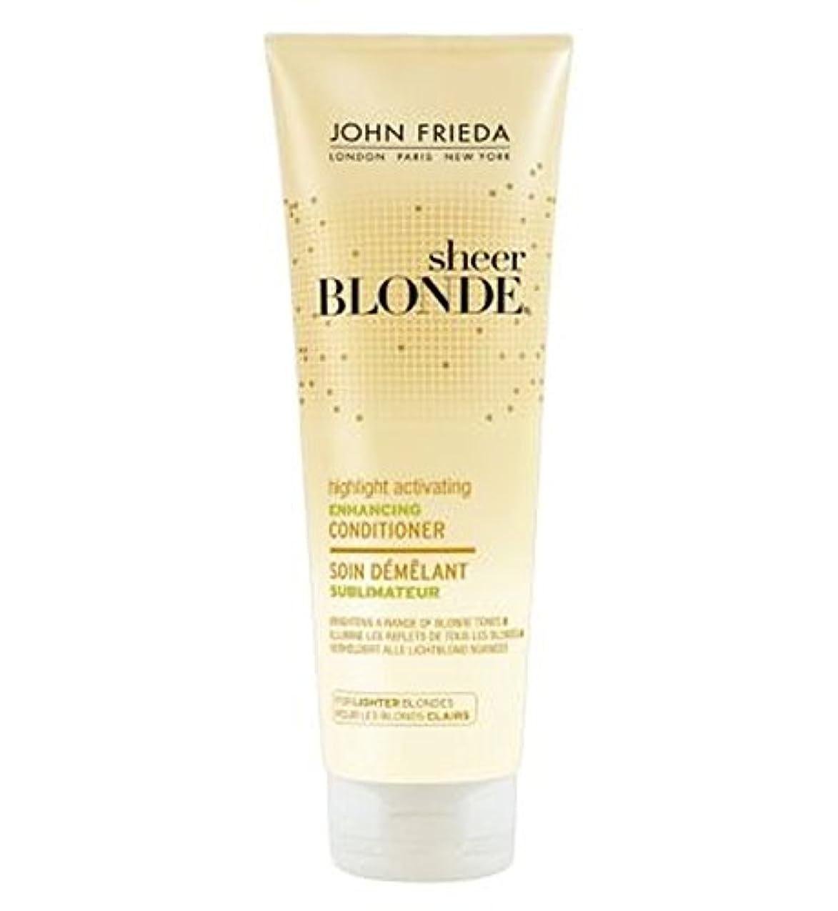 ゴネリル効能あるエキサイティングJohn Frieda Sheer Blonde Highlight Activating Enhancing Conditioner for Lighter Blondes 250ml - 軽いブロンドの250ミリリットル...