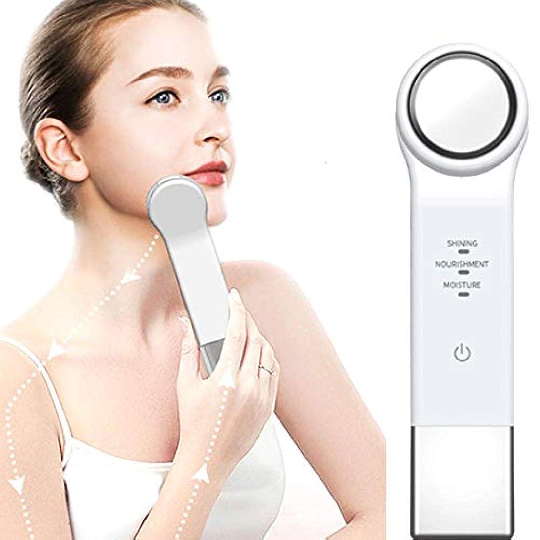 天井浴室クール3-in-1振動メッセージ美顔器、持ち上がる引き締め保湿美白除去しわディープクリーンポータブルUSB充電式