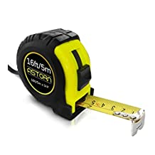 Measuring Tape For Contractors & DIY | Tape Measurer (Cinta Metrica) | Metric & Inches Measuring Tape for Construction | Heavy Duty Tape Measure with Smooth Sliding Nylon Coated Ruler by Astorn
