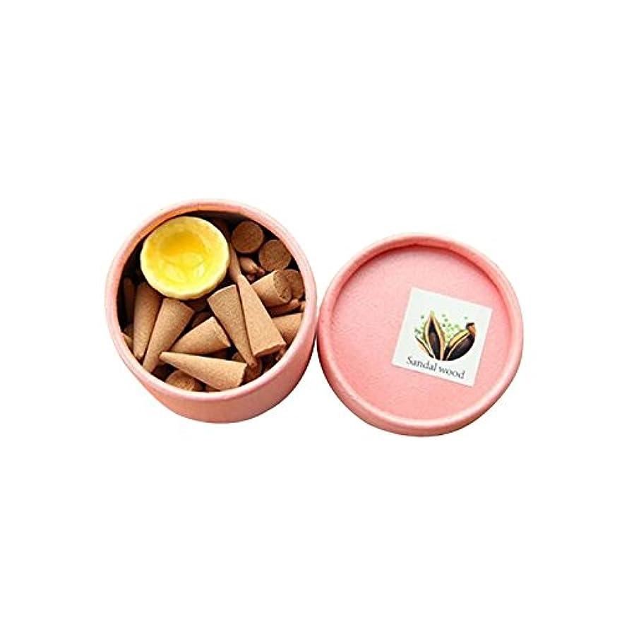 防水非効率的なフィドルFirlar 薰香 供養 癒し 逆流香り 仏教 サンダルウッド 円錐弾丸お香コーン お香 多種の香り 仏堂家居香 香立て チベット香 円皿が付き 中空コーン 健康 アロマ 空気浄化 芳香剤