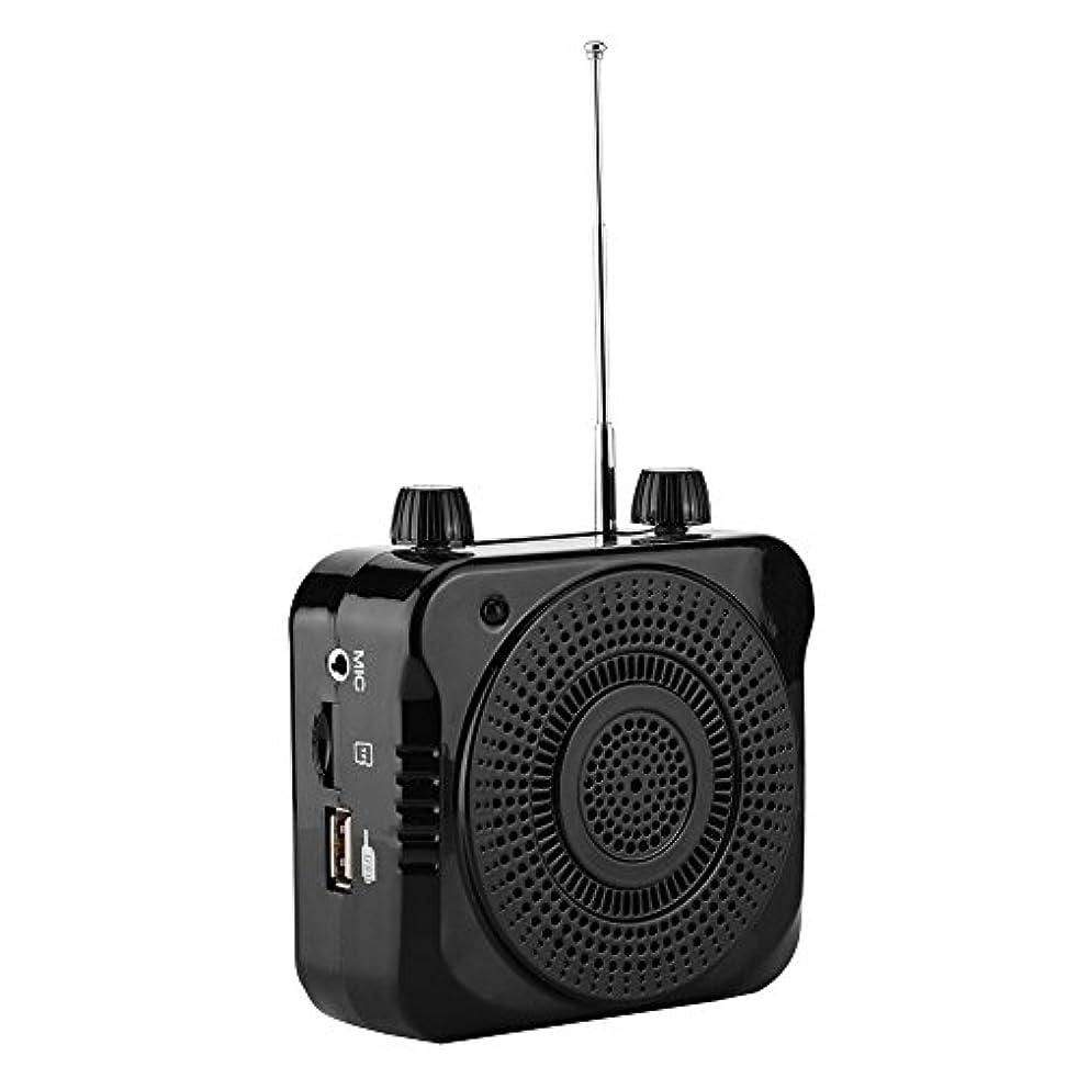 リラックスホスト敬Acouto [ポータブルアンプ] アンプ オーディオワイヤレスラジオ FM USBスピーカー 低い消費電力 長いバッテリー寿命 ポータブルアンプガイド