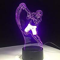 アイスホッケースポーツモデリング3dテーブルランプ7色変更ledナイトライトusb寝室睡眠照明スポーツファンギフト用家の装飾