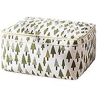 綿のリネンの収納袋パインのパターン高品質のポータブル防湿トラベルオーガナイザーの羽毛布団の衣服移動仕上げ荷物の収納袋 (サイズ さいず : 49 * 40 * 24cm)