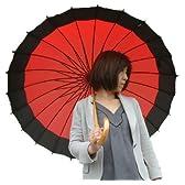 新色!!24本骨傘 蛇の目風 和傘新色【かさ・カサ・パラソル・傘・レインコート】