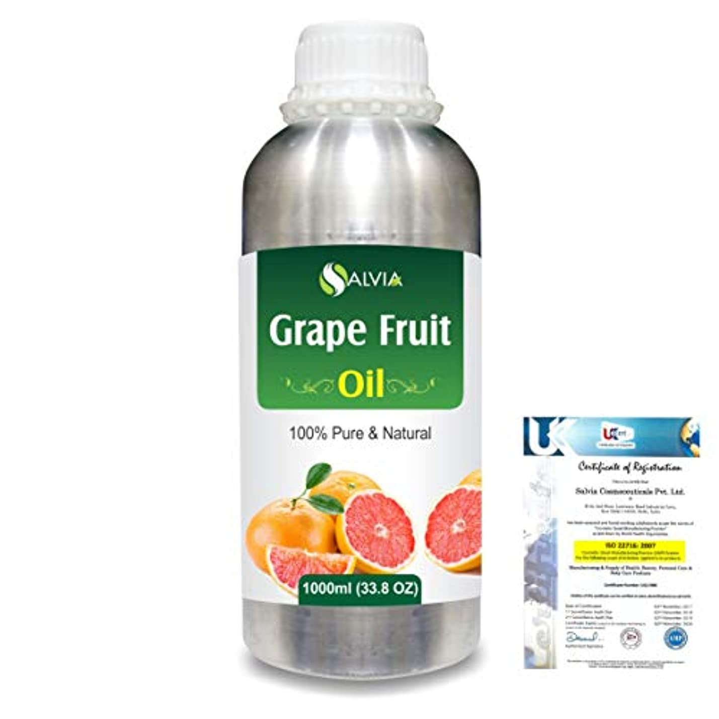 太鼓腹コードレス年金Grapefruit (Citrus paradisi) 100% Natural Pure Essential Oil 1000ml/33.8fl.oz.