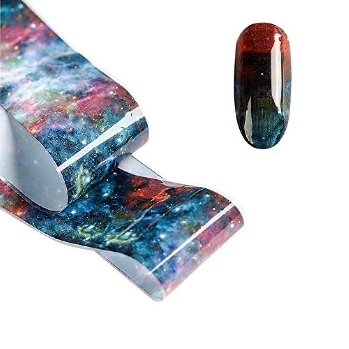 悪魔聞きます光電LITI ネイルシール 貝殻柄ネイルホイル 星空ネイル シェル 大理石 オーロラネイル ホログラム 転写ホイル 箔紙 シェルプリント 極薄フィルム 3D デザイン ネイル転印シール ネイルステッカー 可愛い