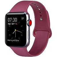 Vancle コンパチブル Apple Watch バンド 38mm 42mm 44mm 40mm for iWatch Series 4/3/2/1に対応 (38mm/40mm-M/L, 02 ワインレッド)