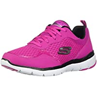 Skechers Women's Flex Appeal 3.0 - Go Forward, Training, Hot Pink, Black, US M