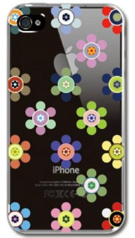 構成降ろす心理的に【Paiiige】 ハナマルアメ (クリア)/ for iPhone4S/softbank専用ケース SFIP4S-100-A031