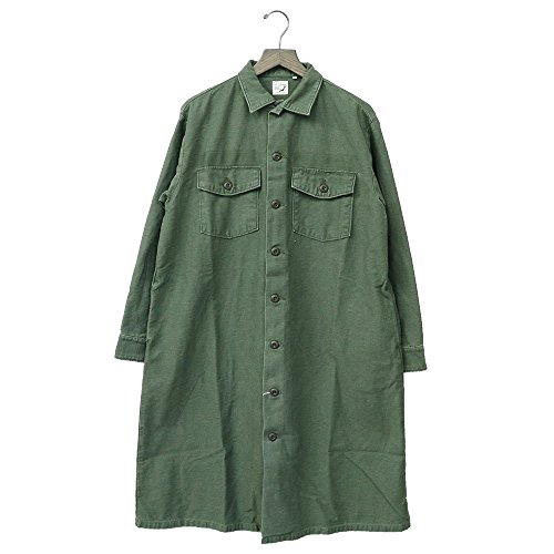 (オアスロウ) orSlow『US ARMY FATIGUE LONG SHIRTS』(GREEN USED) (1(S), GREEN USED)