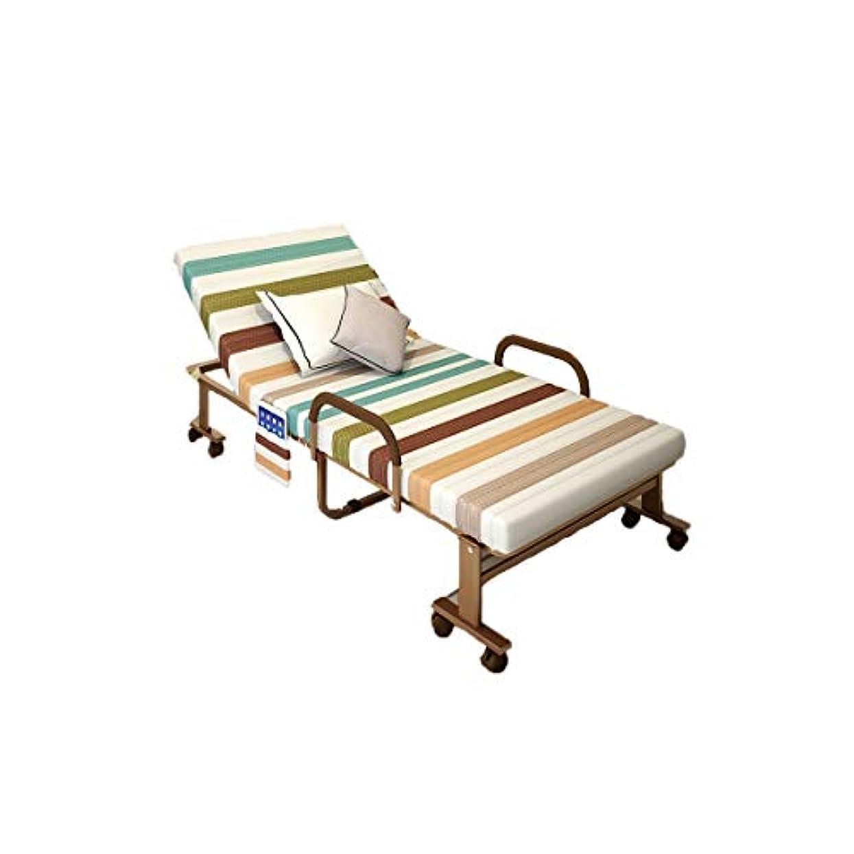 普通の失効書士KEHUITONG 折りたたみ式ベッド、強化シングルベッド、家庭用スポンジベッド、オフィス用大人用ベビーベッド、携帯式仮眠ベッド、昼休み、デュアルユース、コーヒー(70cm、80cm、90cm、100cm、120cm) (Size : 120cm)