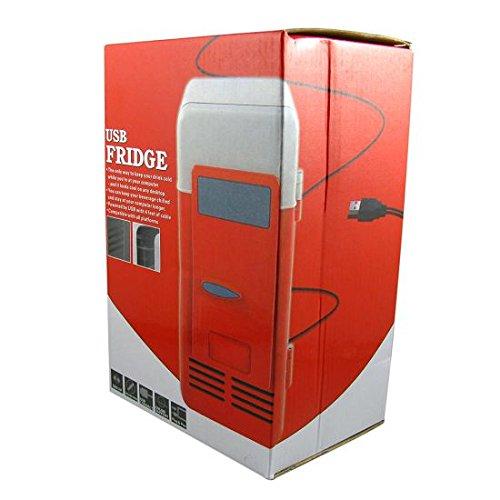 FreshGadgetz USBデスクトップミニ冷蔵庫飲料クーラー・ウォーマー