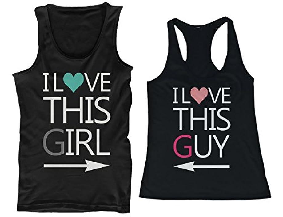 番目皮肉ベアリング365 Printing I Love This Guy and Girl His and Her Matching Tank Tops for Couples
