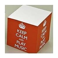 Keep Calm Play Music Red Memo Block (Keep Calm and Play Music)