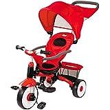 子供用ペダル三輪車1?3歳のトロリー、ガードレール付き