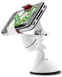 【正規品】EXOGEAR スマートフォンホルダー exomount ホワイト 各種スマートフォン対応のクリップ型ホルダー 車載&卓上 E393