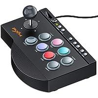 PS4/Nintendo switchに適用アーケードコントローラー PXN TURBO機能付きパンドラボックスfor PS3/PC/XBOX ONE MACRO機能付きファイティング スティック ブラックアーケードスティック