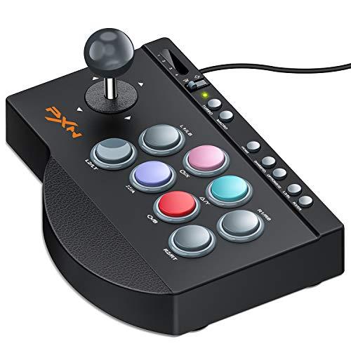 PS4/Nintendo switchに適用アーケードコントローラー TURBO機能付きパンドラボックスfor PS3/PC/XBOX ONE MACRO機能付きファイティング スティック ブラックアーケードスティック