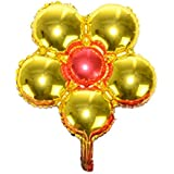 結婚式 子供 誕生日 ラブリー 花形 アルミ ホイルバルーン