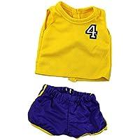 Dovewill  18インチアメリカンガールドール用 素敵 バスケットボール 制服 運動 服 セット