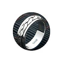 Adisaer 指輪 男性用 925 シルバー 精緻 織りクロス パータン 父の日 両親記念日 ギフト リング サイズ24