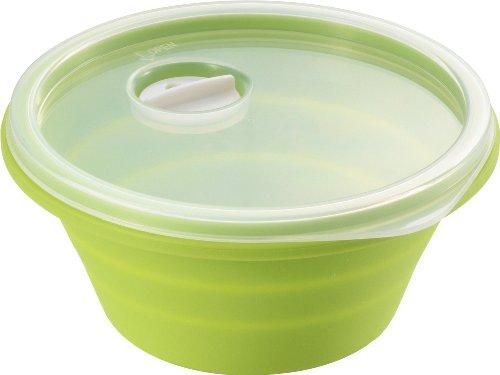 川崎合成樹脂 シリコーン 冷凍保存容器 グリーン SS-096