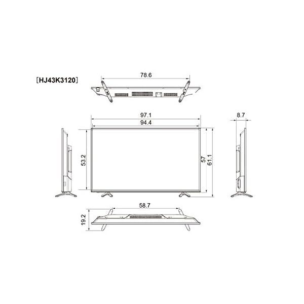 ハイセンス 43V型 フルハイビジョン 液晶 ...の紹介画像4