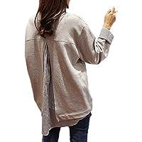 プラチナ リバティー[Platinum Liberty] レディース トップス フレア Aライン チュニック Tシャツ 重ね着 風 レイヤード 長袖